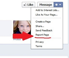 report fake facebook pages