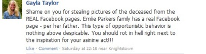 sandy hook fake facebook pages status update-2
